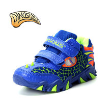 Dinoskulls Kids High Top Sneakers Brand Kids Shoes Boys Sport Sneakers 2017 Leather Children 3D Dinosaurs Sneakers