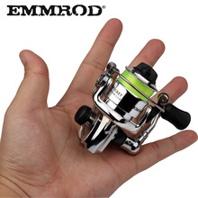 EMMROD HOT Mini100 Pocket Spinning Fishing Reel Alloy Fishing Deal with Small Spinning Reel 4.3:1 Steel wheel pesca Small Reel