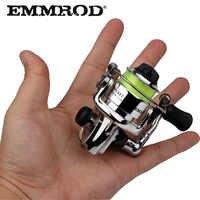 EMMROD HOT Mini100 bolsillo giratorio carrete de pesca aleación pesca aparejos pequeño carrete giratorio 4,3: 1 carrete pequeño de rueda de Metal