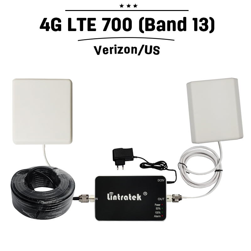 Verizon Wireless 4G FDD LTE 700mhz Band 13 Mobile Signal Booster 4G Voice  Data Cellular Repeater 65dB Gain Amplifier + Antenna