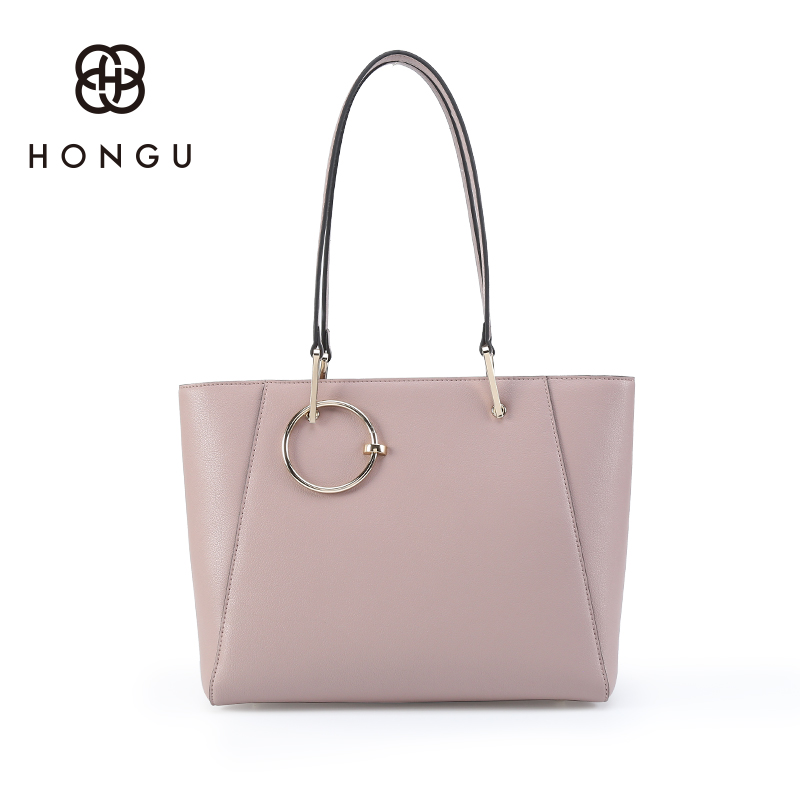 Hongu Genuine Leather Casual Tote Luxury Handbags Women Bag Designer Women Famous Brand Lady Shoulder Louis Bags Bolsos mujer 2017 new arrival designer women leather handbags vintage saddle bag real genuine leather bag for women brand tote bag with rivet