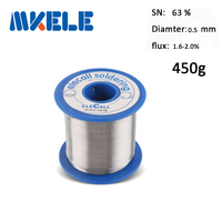 Solder Wire 63 37 Tin 0 5mm 450g Tin Solder Lead Wire Silver Aluminum Mini Soldering