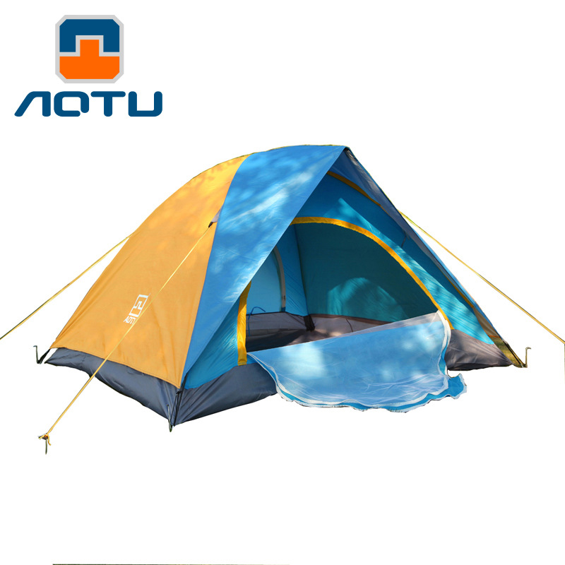 Outdoor Climbing Hiking Travel Camping Double Open The Door For Four Outdoor Tent Camping Tents Tourism And Leisure Tents At6502 mobi outdoor camping equipment hiking waterproof tents high quality wigwam double layer big camping tent