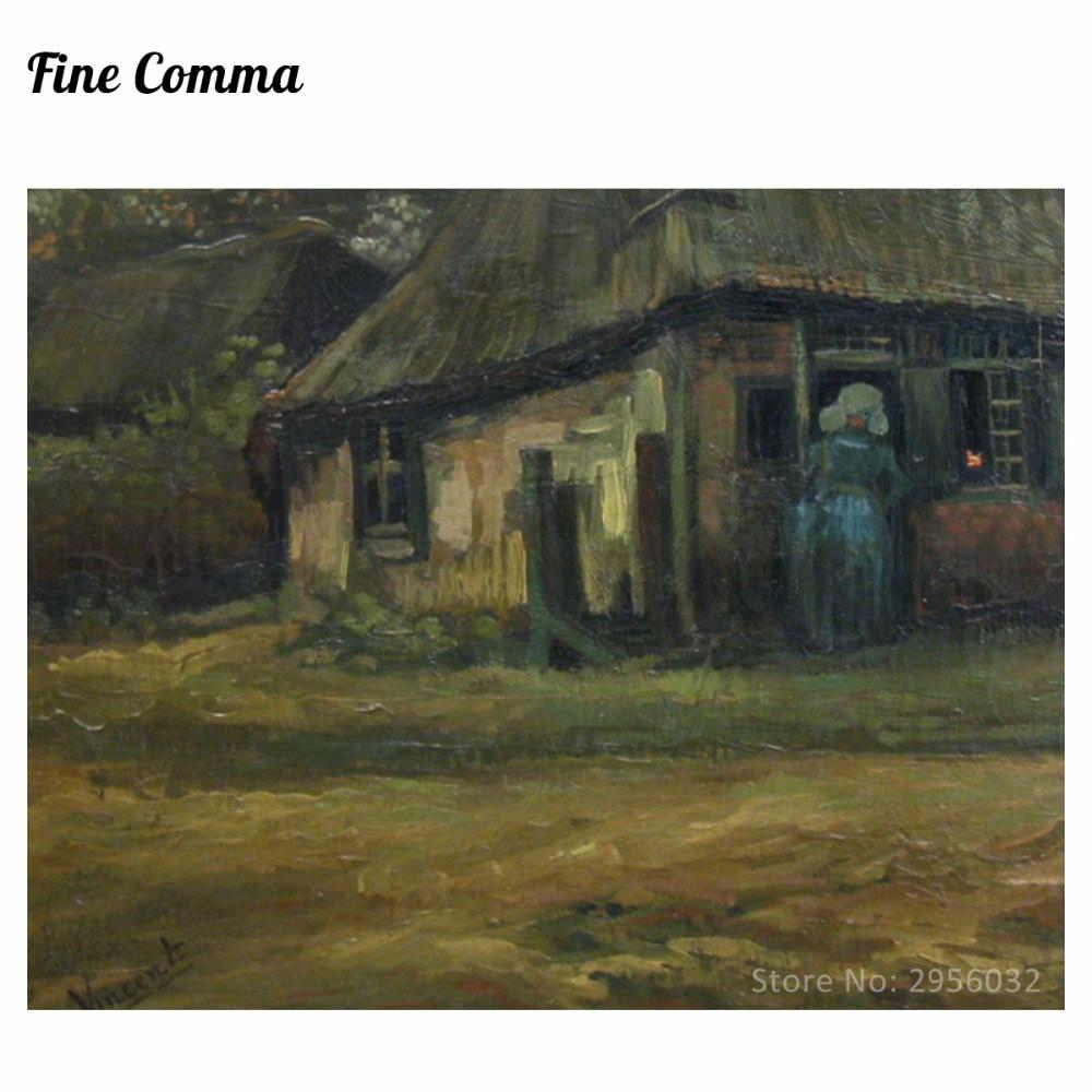 Vikendica De Hut 1885. Vincent van Gogh Ručno oslikana slika uljem - Kućni dekor - Foto 5