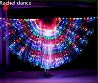 Lớn Màu Ánh Sáng Múa Bụng LED Wings Trang Phục cho Phụ Nữ Glowing Bellydance Oriental Đông Dancing Phụ Kiện Dancer Mặc