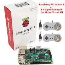 Оригинальный Raspberry Pi/Малина pi3 с Wi-Fi и bluetoothal Element14 Raspberry Pi 3 Модель B + 2 X Малина PI USB геймпад(China)