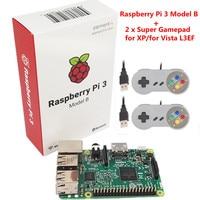 Orijinal Raspberry pi/Ahududu Wifi ile & Bluetoothal pi3 Element14 Raspberry Pi 3 Model B + 2 x Raspberry PI USB Gamepad