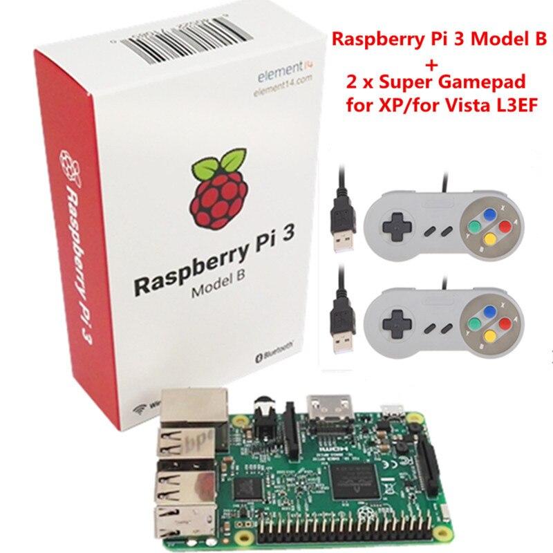 bilder für Raspberry pi 3 mit Wifi & Bluetoothal Raspberry Pi 3 Modell B + 2 x Raspberry PI Orange Pi USB Gamepad