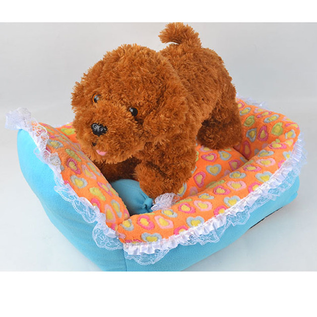Lovely Princess Thick Warm Pet Dog Cat Bed Sweet Lace Bow Puppy Doggy Sofa House