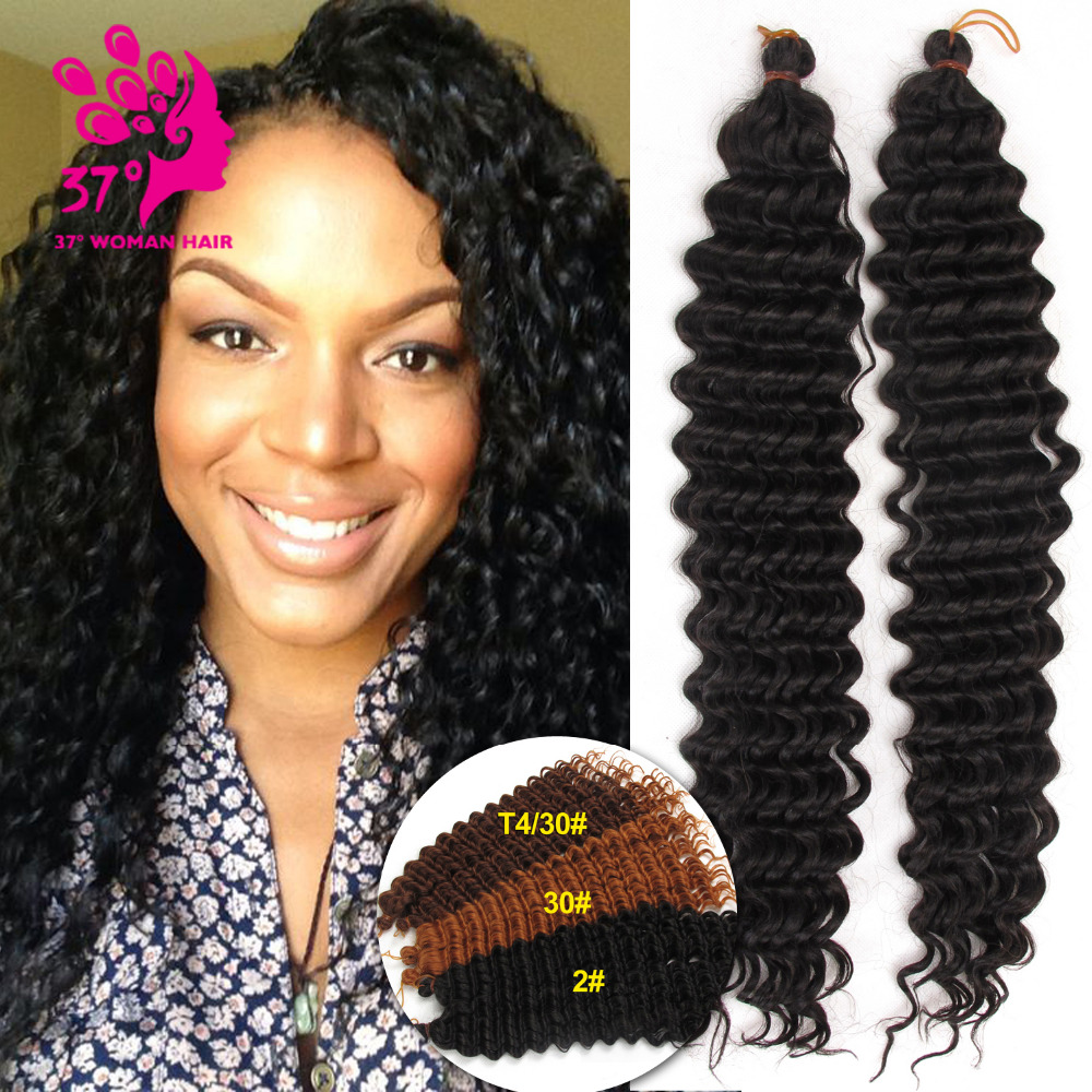 Crochet Braids No Loop : Pre-loop Crochet Braid Synthetic Crochet Braids Deep Wave Brazilian ...