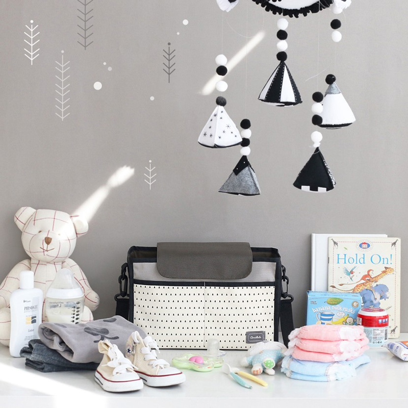 Multi-function Diaper Bag Mummy Storage Bag for Baby Stuff Collection Mummy Bag Baby Car Hanging Basket Stroller Nappy Bag