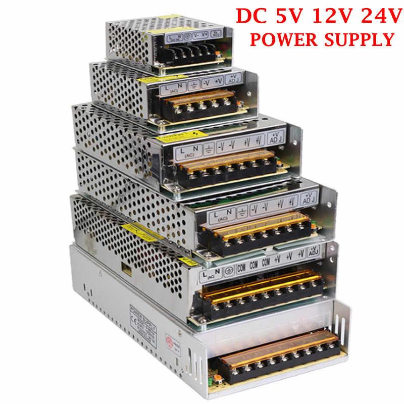 Лидер продаж AC85-265V 110 V 220 V в DC5V 12 V 24 V 1.25A 2A 3A 5A 8.5A 10A 15A 20A 30A 40A 60A CCTV/Светодиодные ленты Питание адаптер