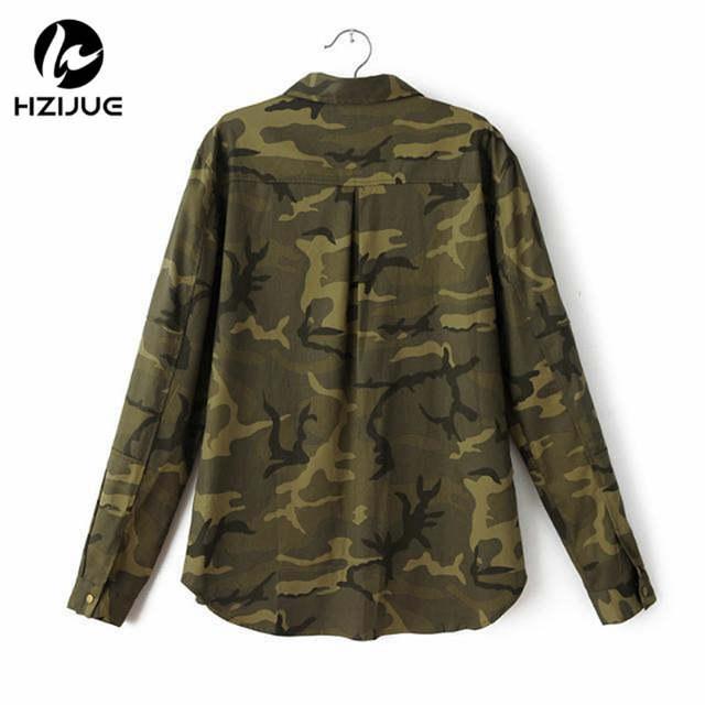 fd0be5c1e7 placeholder HZIJUE 2018 Moda Manga Comprida chaqueta Jaqueta militar Casaco  Mulheres Jaquetas Militares Verdes Fino Bordado Mulheres