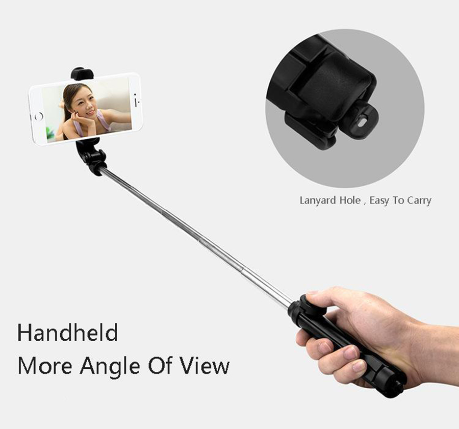 New Arrival Portable Bluetooth Selfie Stick Tripod Handheld Monopod Extendable Selfie Stick For Iphone Xiaomi Samsung Smartphone