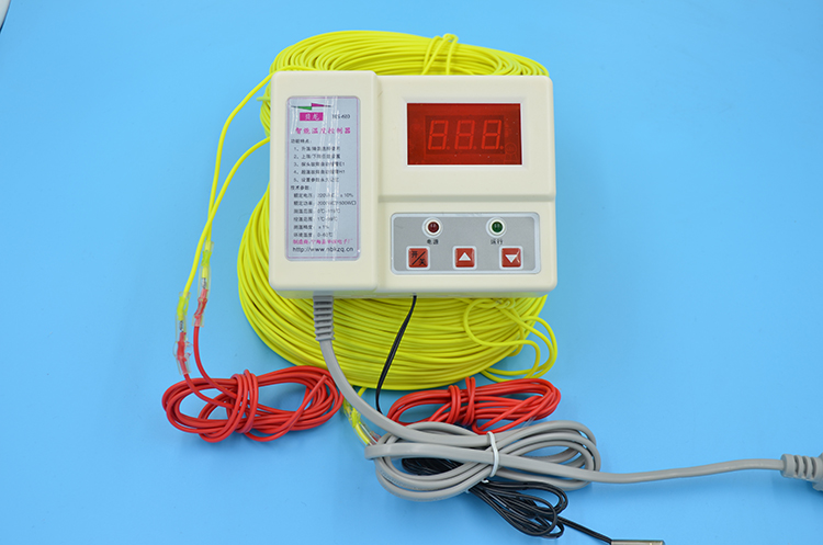Free Shipping Farm Use 2*100M 1kw 220V Soil Heating Wire+2200W Temperature Controller Greenhouses Heating Wire