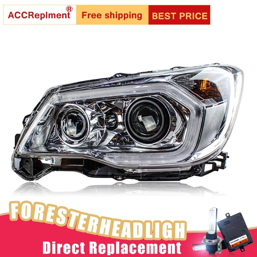 Image 5 - 2Pcs LED Headlights For Subaru Forester 2014 2018 led car lights Angel eyes xenon HID KIT Fog lights LED Daytime Running LightsCar Light Assembly   -