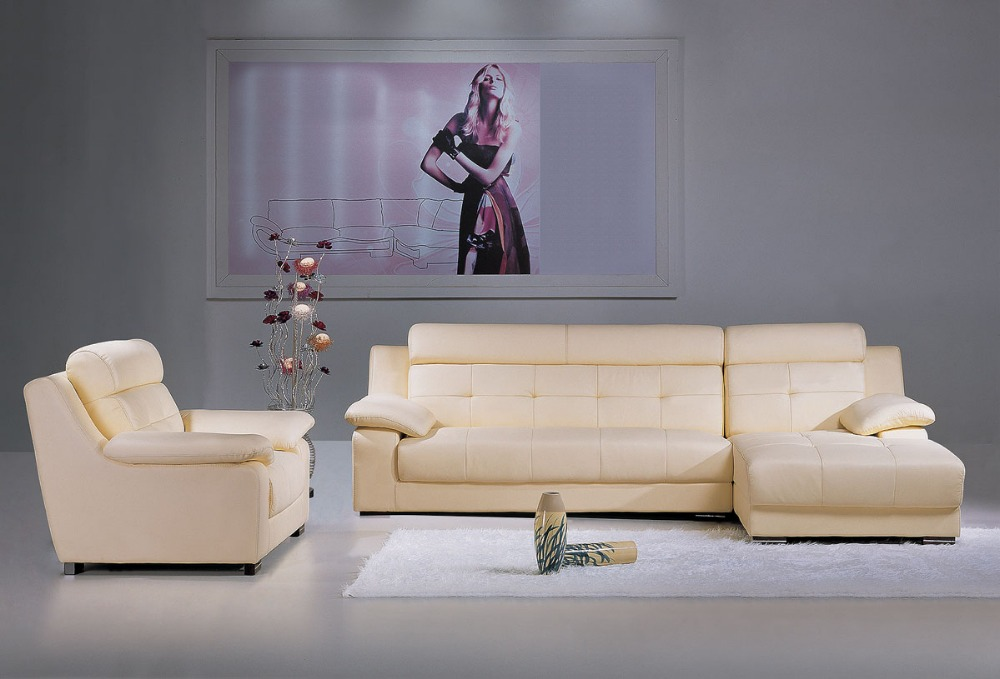 Cow Genuine Leather Sofa Set Living Room Furniture Couch Sofas Living Room Sofa Sectional/corner Sofa L-shaped Home Furniture Home Furniture