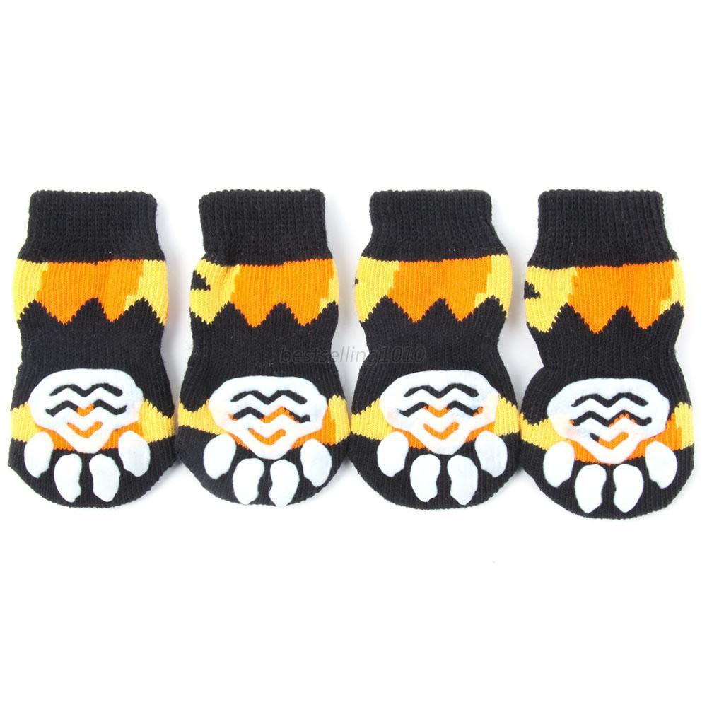 ¡Precio de fábrica! Calcetines antideslizantes para mascotas de perros calientes S M L XL Multi-colores - Ropa de perrito de zapatillas súper calientes