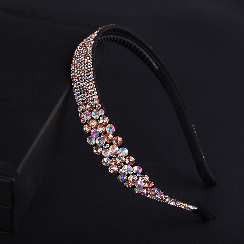 Women Luxury Austria Rhinestone Hairbands Girl Shinny Crystal Headbands Bridal Wedding Hair Accessory Vintage Headwear women girl bohemia bridal camellias hairband combs barrette wedding decoration hair accessories beach headwear