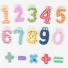 Fridge Wooden Magnet Numbers Table Smart Development Toy Child Magnetic Sticker Classroom Whiteboard Gadget 20%off(China)