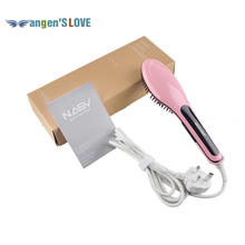 FREE SHIPPING Simple Package Orginal Beautiful Star NASV Hair Straightener High Quality Hair Straightener Comb