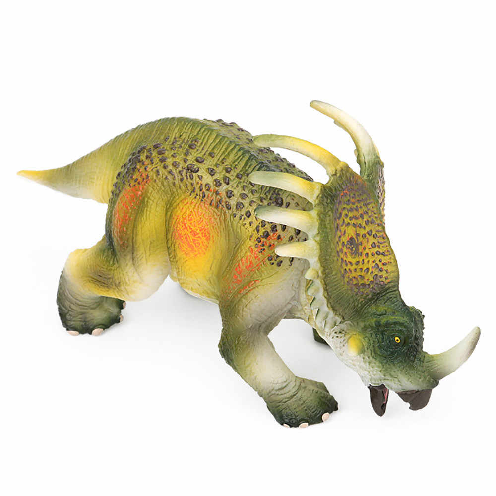 Dinosaur figurines Educational Simulated styracosaurus Model Kids Children Dinosaur Model Toy Dinosaur model skeleton D300116