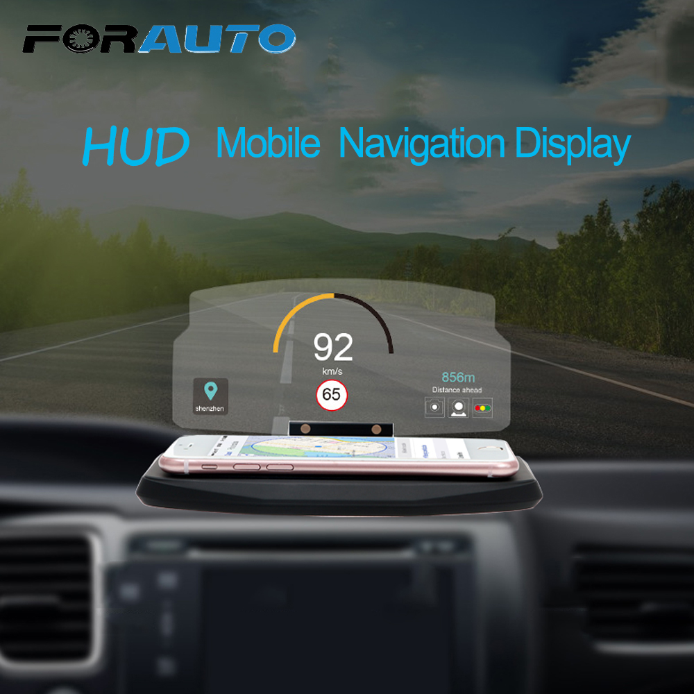 FORAUTO 6.5 Inch Mobile Phone Holder for iPhone Samsung GPS HUD Head Up Display Car Windscreen Projector Driving Safety