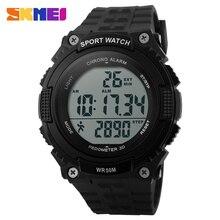 SKMEI Pedometer Sports Watches Men Outdoor Countdown Waterproof Watches Male Fashion Digital Wristwatches Relogio Masculino
