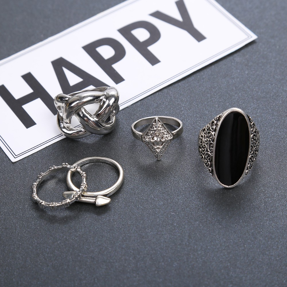 HTB1LUrhMVXXXXbDXpXXq6xXFXXXY Stylish 10-Pieces Retro Boho Spirituality Knuckle Ring Set For Women - 4 Sets