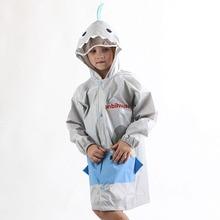 Pink Blue Cute Cartoon Shark Baby Polka Dot Raincoat Windproof Poncho Boys Girls Rain gear Outdoor Backpacksuits 7R9