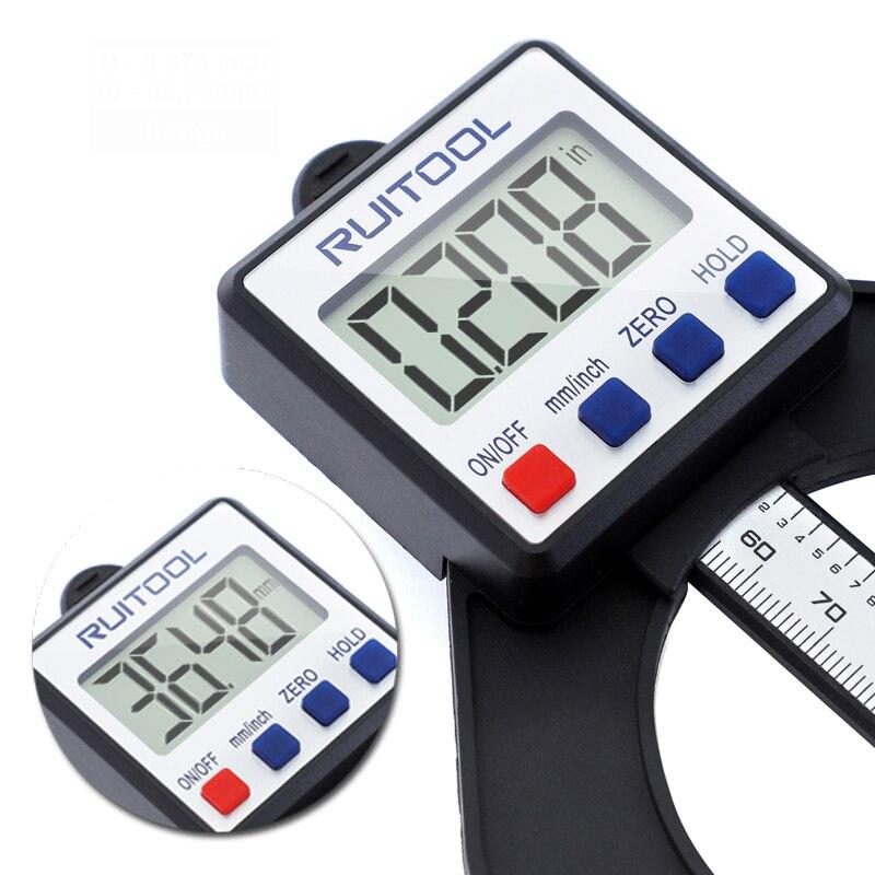 Blue /& Schwarz 0-80MM LCD Digital Tiefenmesser Holzverarbeitung Calipers H/öhe Measuring Tools Magnetic Selbst Standing Aperture