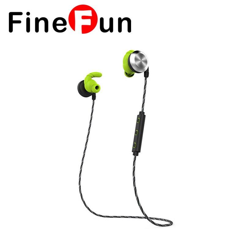 ФОТО FineFun U2 IPX7 Waterproof Ear Wireless Headset Bluetooth Earphone With Microphone Headset Magnetic Sweatband For Android IOS