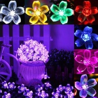 1 Pcs 7M 50 Cherry Led String Fairy Light Sakura Flower Indoor Garden Christmas Wedding Decor