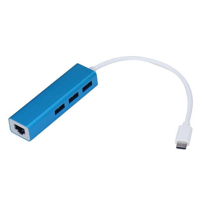 Mecall USB3.1 тип оптово-c usb-rj45 Ethernet LAN адаптер с 3 разъём(ов) USB 3.0 для MacBook