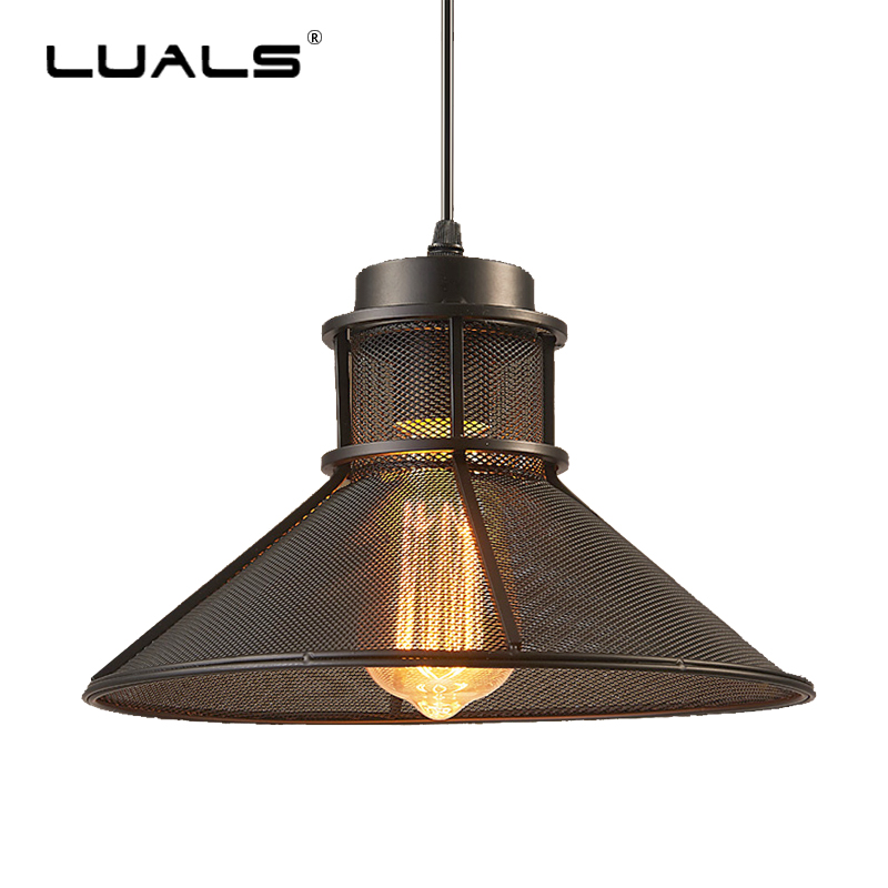 Loft Pendant Lights Retro Hanging Lamp Creative Iron Art Industrial Pendant Lighting For Restaurant Edison Bulb Light Fixture american art creative retro vintage pendant lights spring iron hanging pendant lamp indoor iron black pendant lamp light