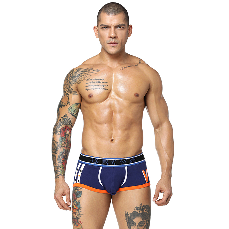 4PC/LOT CETHIA Brand sexy Underwear Men comfortable breathable Boxer Shorts solid soft Underpants Middle-waisted Male Panties