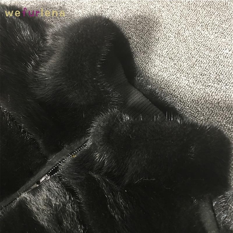 Vison Cm Naturel Femmes De Noir 70 À Manteau Manteaux D'hiver Veste Nouveau Longue Fourrure Longues Épaisse Véritable Manches Luxe w1xqYBqd