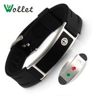 Wollet Energy Wristbands Infrared Germanium Tourmaline Bands Black Silicone Bracelets Bangle Healing Adjustable Size