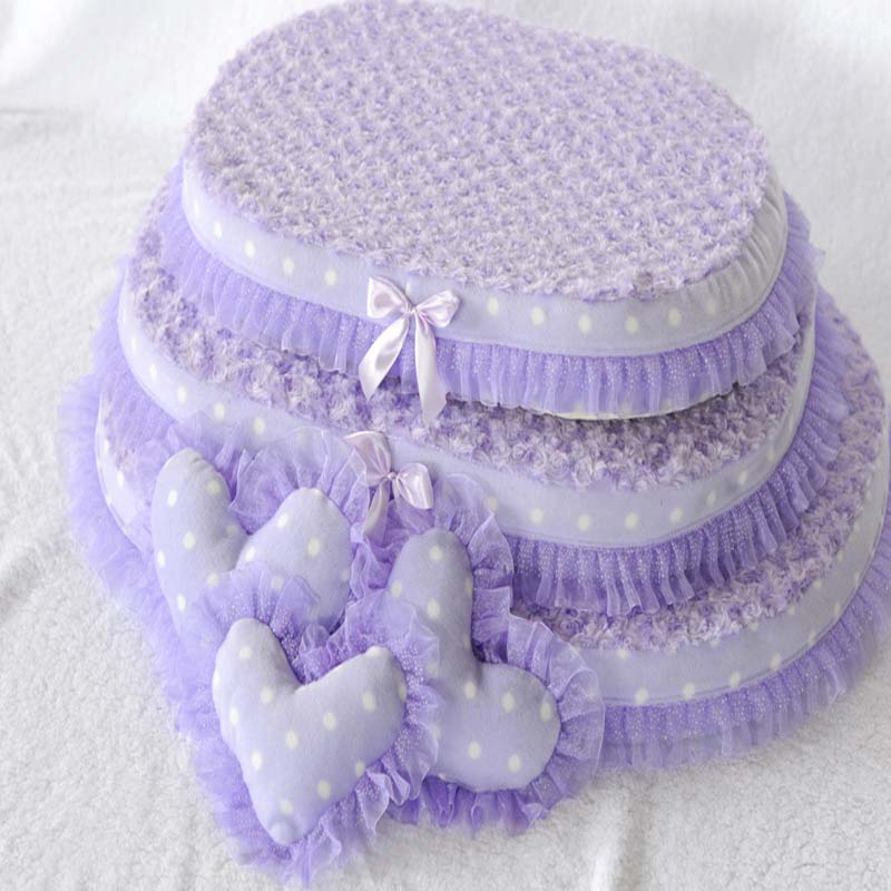 Princess Dog Bed Lovely  Puppy Cat Houses Cozy Soft Lace Pet Sofa Bed Washable Mat Sleep Cushion Kennel