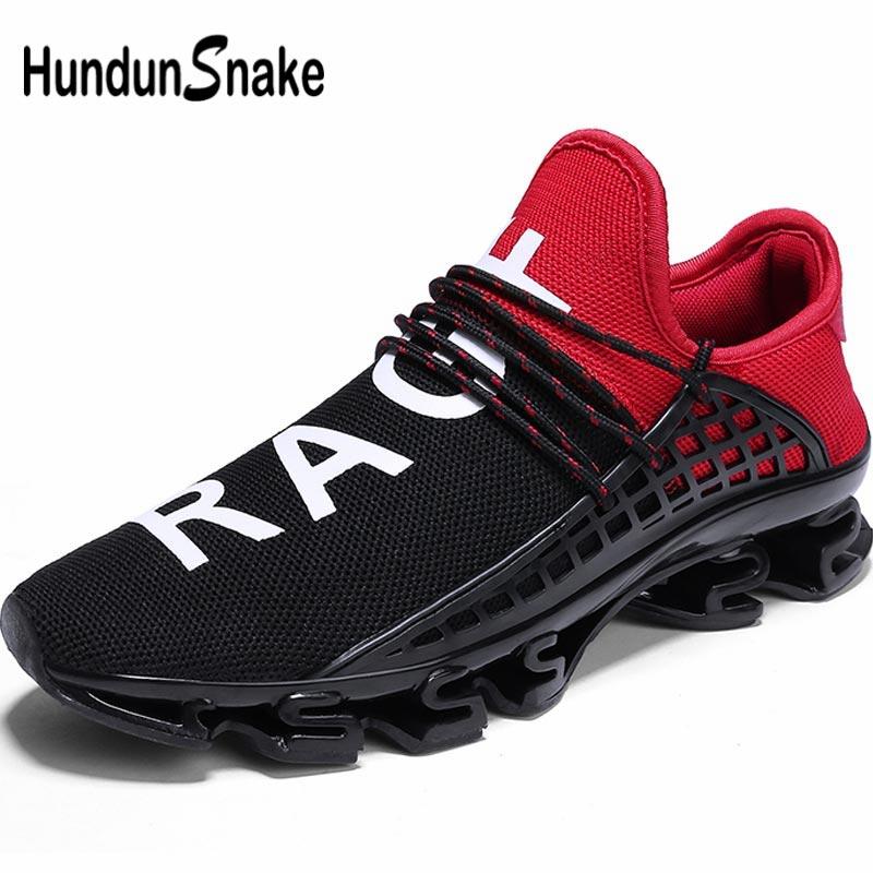Hundunsnake Breathable Men Sport Shoes Man Sneakers Men Running Shoes Sports Shoes Male Summer Trainers Black Tennis Train B-005