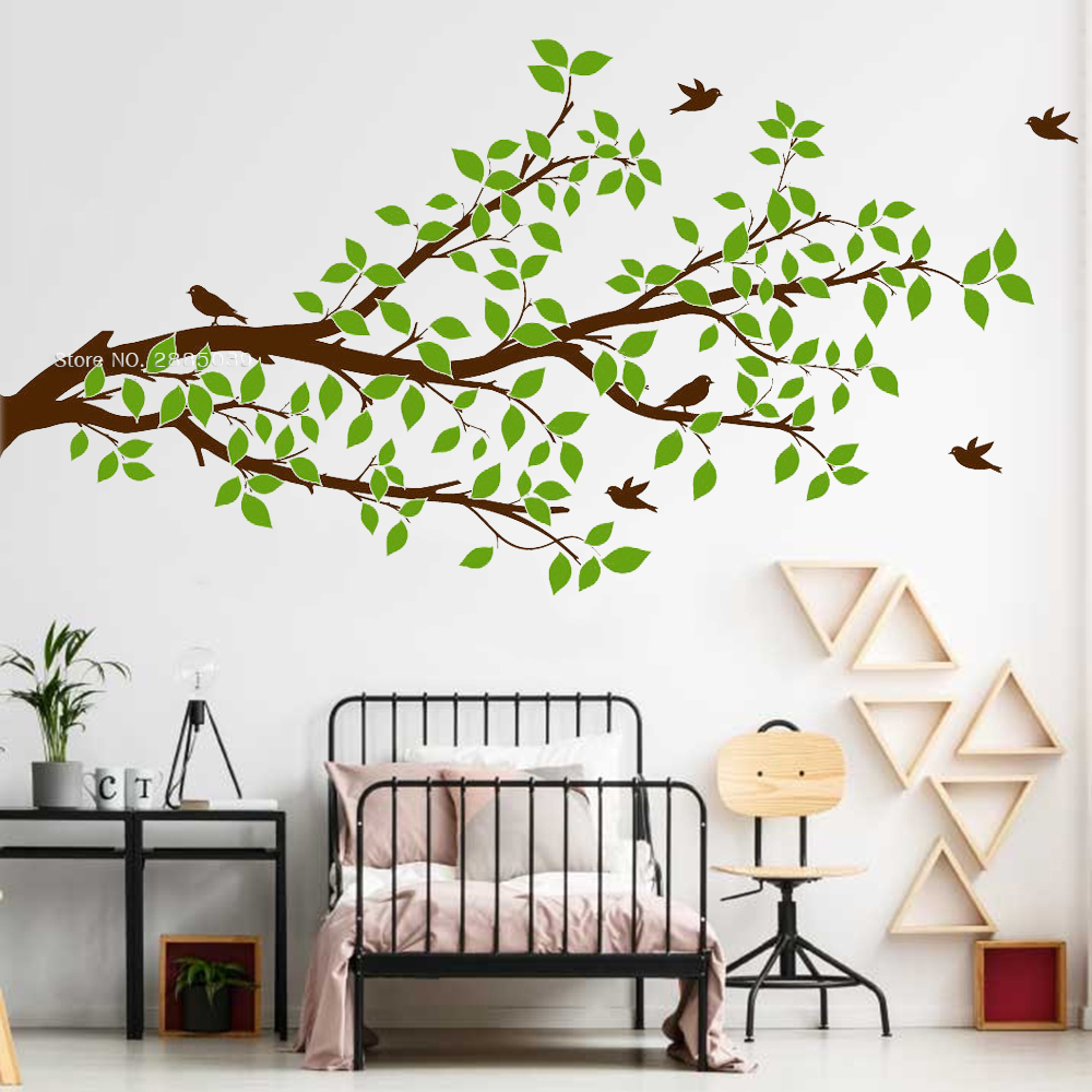 Large Tree Branch Birds wall stickers Home Decal Art Vinyl Living Room Decor DIY