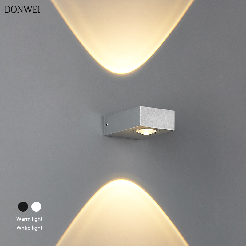 Gentle Outdoor Waterproof 6w Led Wall Lamps Ac100v/220v Aluminum Decorate Wall Sconce Led Wall Light For Bedroom Corridor Home Hallway Reasonable Price Led Lamps Led Outdoor Wall Lamps