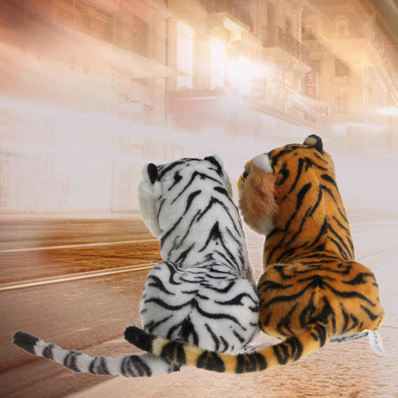 2017 Cute Children Kids  Soft Plush Tiger Animal Toys Lovely Stuffed Doll Pillow Gift   APR25_17