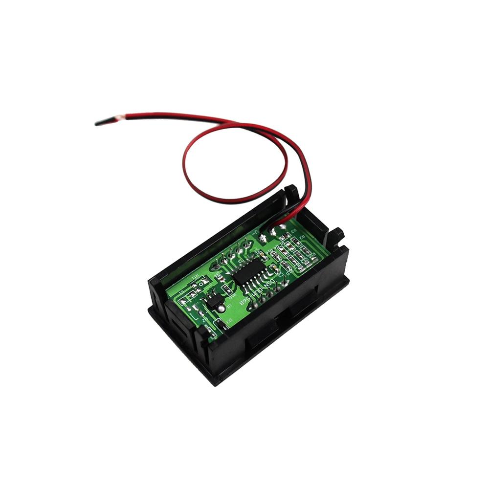 DC4.5V-30V 2 Cables Voltímetro digital LED de 0.56 pulgadas con - Instrumentos de medición - foto 3
