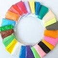 Playdough 24 cores 24 bags/set suave polymer modelagem barro com ferramentas de excelente qualidade especial brinquedos lodo polymer clay