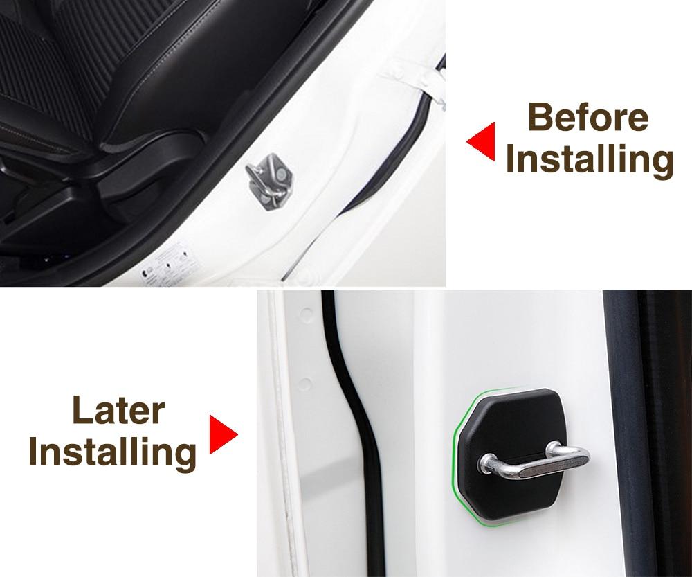 Крышка дверного замка автомобиля Защитная крышка для Ford Escape Focus 3 MK3 Fiesta Mondeo Fusion лесные автомобильные аксессуары