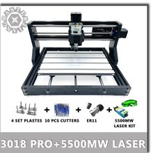 CNC 3018 Pro GRBL mini Laser Engrave Machine+5.5W Laser Module 3 Axis pcb Milling machine Bluetooth Wood Router can work offline(China)