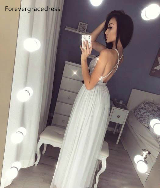 Silver Gray Split Evening Dresses 2019 Hot Sell Reflective Sequined Prom Party Gowns A Line Spaghetti Straps Long Plus Size BC0855  119 (5)
