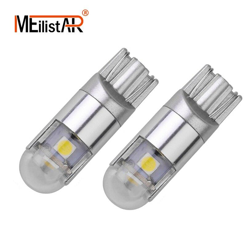 New Car led 2pcs Signal Lamp 3030 T10 Led Car Bulb W5W Led T10 Led Lamps For Cars White 5W5 Clearance Backup Reverse Light цена 2017