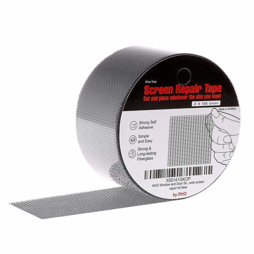 Strong Adhesive Window Repair Tape Anti-Insect Fly Bug Door Mosquito Screen Net Fiberglass Mesh Cloth Screen Repair Tape